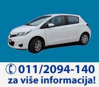 UniRent Rent a Car Beograd | Iznajmite Toyota Yaris - preuzimanje vozila na aerodromu Beograd
