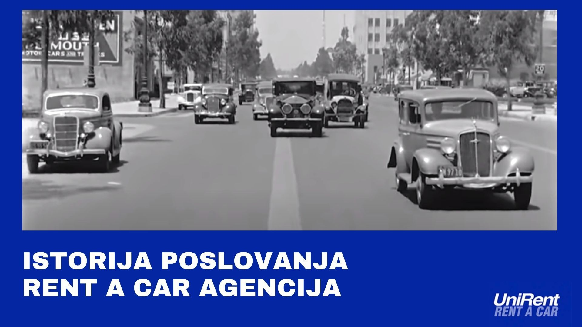 Istorija poslovanja rent a car agencija